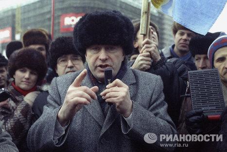 Лидер Либерально-демократической партии России В.В.Жириновский