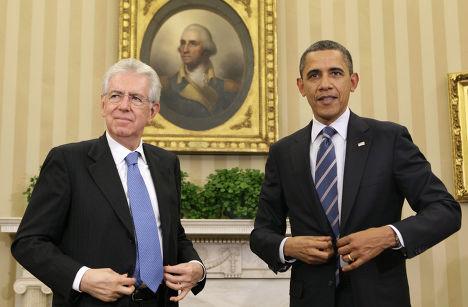 Барак Обама и Марио Монти
