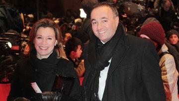 Продюсер Александр Роднянский с супругой Лерой на Берлинале-2012