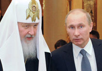 Премьер-министр РФ В.Путин поздравил патриарха Кирилла с трехлетием интронизации