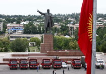 На главной площади города Ош