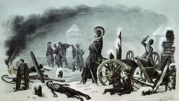 Французские войска в Смоленске 28 октября 1812 года