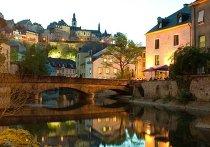Вид на вечерний Люксембург