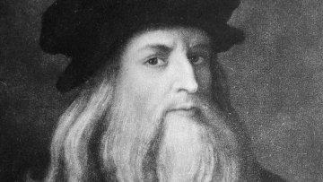 Репродукция автопортрета Леонардо да Винчи. Холст, масло. 1452 - 1519 годы.