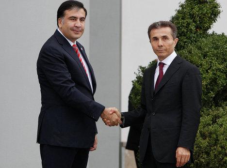 Президент Грузии Михаил Саакашвили и кандидат в премьер-министры Бидзина Иванишвили