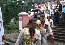 Первое празднование Дня Казачества в Донском монастыре в Москве