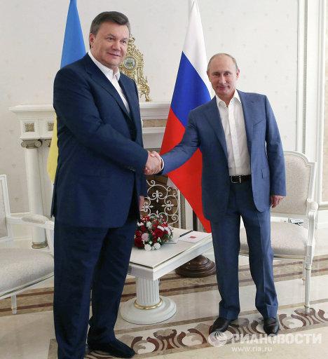 Встреча В.Путина и В.Януковича в Сочи