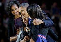 Барак Обама с семьей