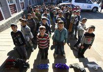 Сирийские дети из семей беженцев в Турции