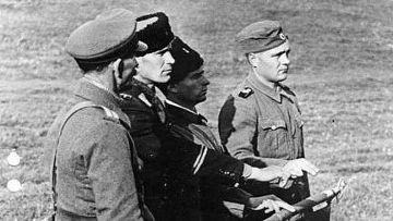 Церемония принесения присяги казаками, воевавшими в составе вермахта