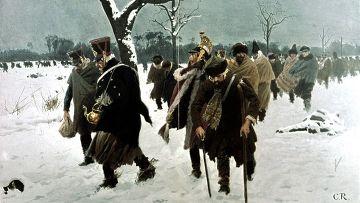 Картина Карла Рехлинга «Ноябрь 1812 г. Отступление Великой армии Наполеона из России»