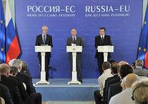 """Совместная пресс-конференция участников саммита """"Россия – ЕС"""""""