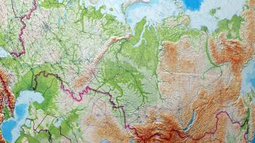 Карта России и сопредельных государств
