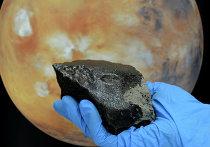 Срез марсианского метеорита, упавшего в районе марокканского города Тиссинт в 2011 году
