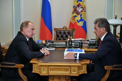 Президент России Владимир Путин и губернатор Московской области Сергей Шойгу