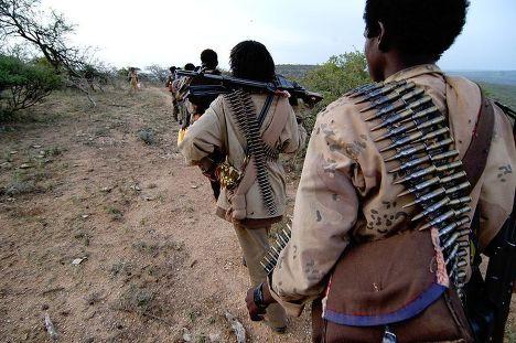 Колонна повстанцев в Эфиопии