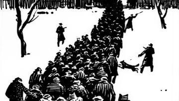 Рисунок Р.Ф.Ефименко «Возвращение команд в лагерь»