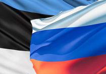 Флаги Эстонии и России