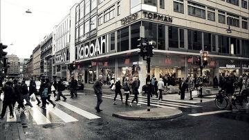 На улице Стокгольма