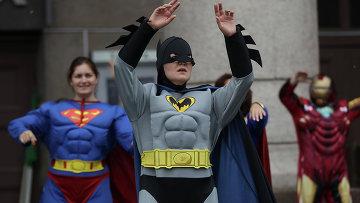 Флешмоб супергероев в Санкт-Петербурге