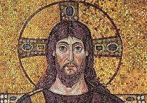Мозаика с изображением Иисуса в базилике Сант-Аполлинаре-Нуово