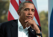 Барак Обама во время встречи с президентом России Владимиром Путиным в рамках саммита G8