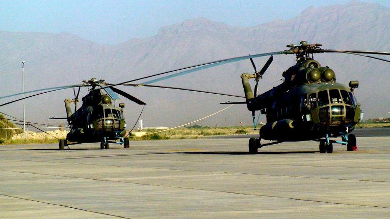 Вертолетный парк ВВс Афганистана . Вертолеты Ми-17 российского производства