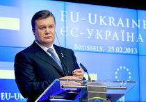 Президент Украины Виктор Янукович на XVI саммите Украина - Европейский Союз в Брюсселе