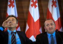Пресс-конференция Бидзины Иванишвили и Георгия Маргвелашвили