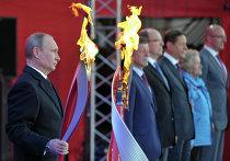 В.Путин дал старт эстафете олимпийского огня в России