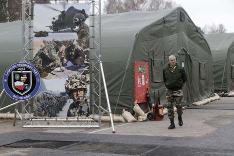 Военная база в Адажи, Латвия, на которой проходят учения НАТО Steadfast Jazz 2013