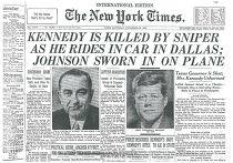 Газета The New York Times от 23 ноября 1963 года с новостью об убийстве Кеннеди