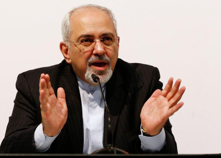 Глава МИД Ирана Мохаммад Джавад Зариф после переговоров в Женеве. Фото с места события