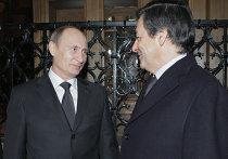 Неформальная встреча Владимира Путина и Франсуа Фийона