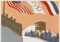 Афиша с зимних Олимпийских игр в Лейк-Плэсиде