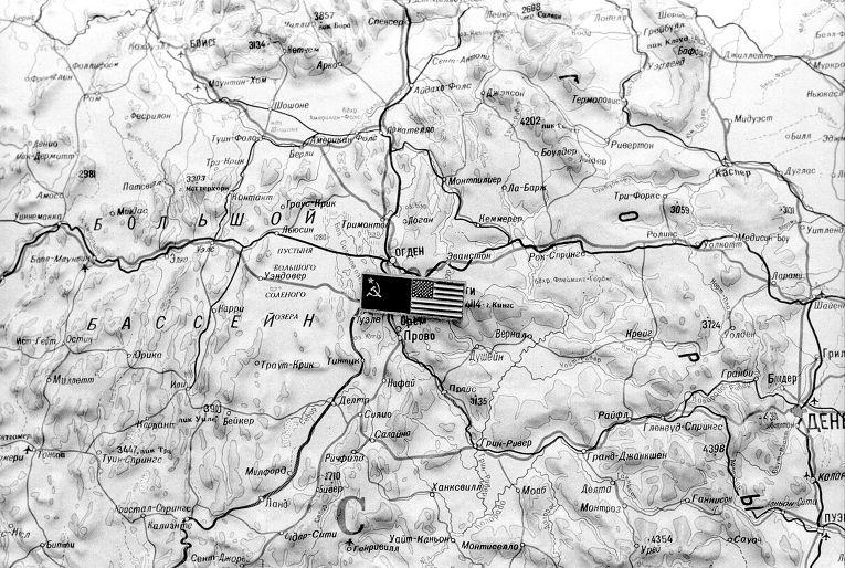 Карта США в Советском Центре по уменьшению ядерной опасности