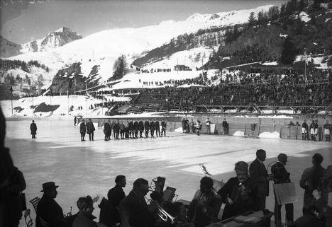 Хоккейный матч на зимних Олимпийских играх 1928 года в Санкт-Морице