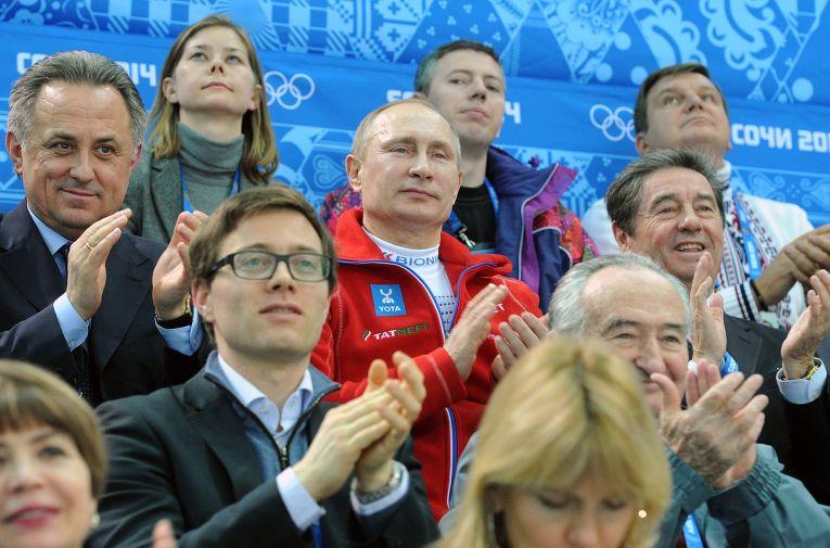 В.Путин посетил соревнования по фигурному катанию