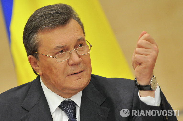 Отстраненный от должности президента Украины Виктор Янукович