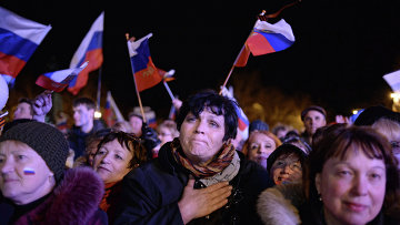 В Севастополе после голосования на референдуме о статусе Крыма. Фото с места событий