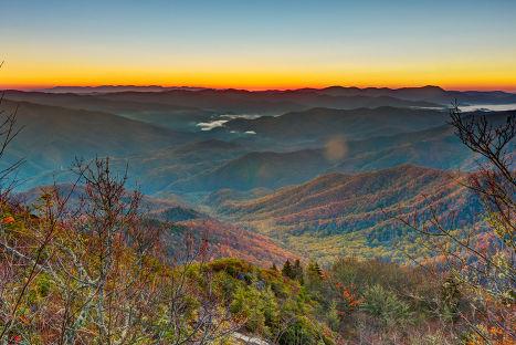 Национальный парк «Грейт-Смоки-Маунтинс», Северная Каролина/Теннесси