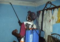 Дезинфекция в доме человека, предположительно заболевшего вирусом Эбола