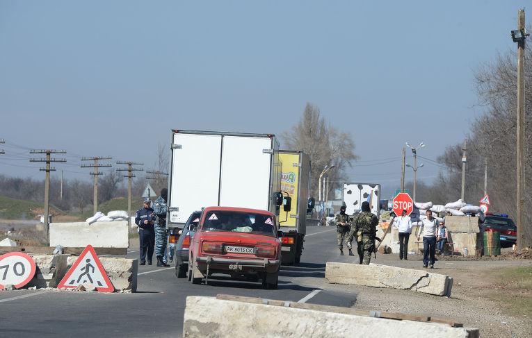 Граница между Крымом и Украиной