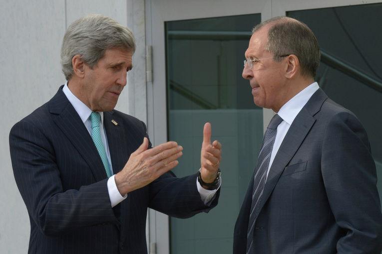 Встреча Сергея Лаврова и Джона Керри в Женеве