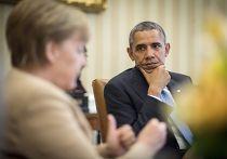 Барак Обама и Ангела Меркель обсуждают ситуацию на Украине во время встречи в Белом доме
