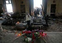Сожженный Дом профсоюзов в Одессе
