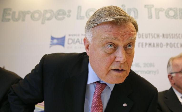 Глава компании «Российские железные дороги» Владимир Якунин в Берлине