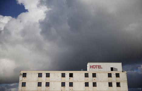 Отель «Говард-Парк», готовящийся к сносу, в городе Килмарнок в Шотландии