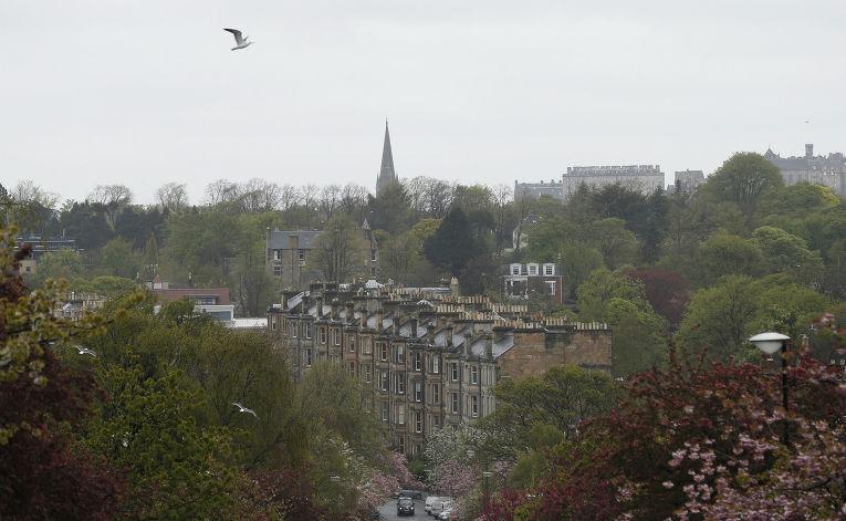 Дома в районе Морнингсайд в Эдинбурге
