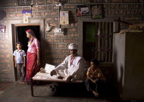 Деревня секты бишной в Индии
